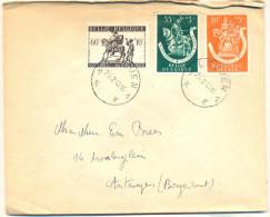 Hd914: N° 606+604+603: 1K LEUVEN 1K > Antwerpen - Briefe U. Dokumente