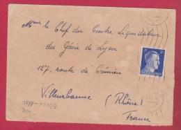 Enveloppe //  Pour Villeurbanne  //  1942  //  Ouverte Par La Censure - 1921-1960: Modern Tijdperk