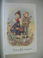 LOT 41 E DE 6 CARTES POSTALES ANCIENNES DIFFERENTES D'ENFANTS  BONNE FETE MAMAN - Humour