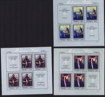 1970 Tableaux De Peintres Polonais En Feuillets De 4 Timbres Et 2 Vignettes ** MNH - Blocks & Sheetlets & Panes