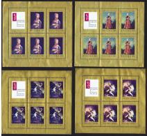 1967  Tableaux De Maîtres Européens Dans Musées Polonais Série Complète De 8 Feillets 4 Timbres + 2 Vignettes **  MNH - Blocks & Sheetlets & Panes
