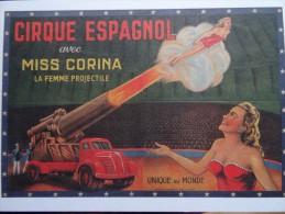 Cpm Cirque Femme Projectilve Canon Cible - 5 - 99 Postkaarten
