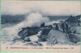 29 BRIGNOGAN - La Mer Furieuse - Effet De Vagues Par Gros Temps - Brignogan-Plage