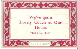 """We've Got A Lovely Couch At Our House. """"Just Holds Two"""" - Humor"""