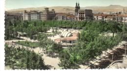 POSTAL   LOGROÑO  - ESPAÑA -   PLAZA DEL ESPOLÓN  Y KIOSCO - La Rioja (Logrono)