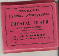 "Twelve Genuine Photographs Of Crystal Beach, Ontario  3.5"" X 2.5""  9 Cm X 6.5 Cm - Géographie"