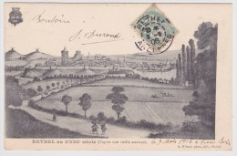 (RECTO / VERSO) RETHEL EN 1906 - RETHEL AU XVIIIe SIECLE - BEAU CACHET - Rethel