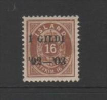 ICELAND...mh...1902-03. .SCV= $35.00...#55 - 1873-1918 Danish Dependence