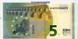 NEW NUOVA EURO NOTE BANCONOTA BILLET DA 5 EURO SE  ITALIA ITALY S006.. FDS UNC DRAGHI - EURO