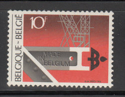 Belgium      Scott No.   1156     Unused Hinged      Year  1983 - België
