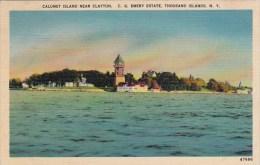 New York Thousand Islands Calumet Island Near Clayton C G Emery