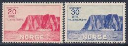 Norway, Scott # B9-10 Mint Hinged North Cape, 1938 - Nuovi