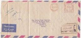 Registered Meter Airmail Envelope Cover, Iraq 1968, Bagdad, As Scan - Irak