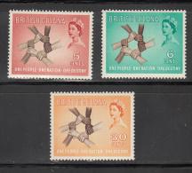 British Guiana   Scott No. 268-70      Unused Hinged    Year  1961 - Francobolli