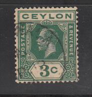 Celyon      Scott No. 202    Used    Year  1912  Wmk. 3 - Sri Lanka (Ceylon) (1948-...)