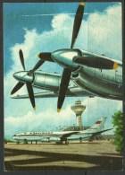 Deutschland Ansichtskarte Flugzeuge Air Planes Flughafen Berlin 1990 Nach Estland Gesendet - Airplanes
