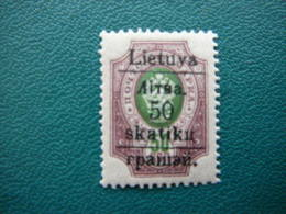 Grodno 50sk./50kop. # Lietuva Lithuania Litauen Lituanie Litouwen # 1919 MNH ** # - Litouwen