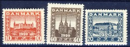 ##K063. Denmark 1920. Reunion. Michel 110-12. MH(*) - 1913-47 (Christian X)