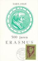 D17699 CARTE MAXIMUM CARD FD 1969 NETHERLANDS - HUMANIST ERASMUS ROTTERDAM CP PHOTOCARD - Célébrités