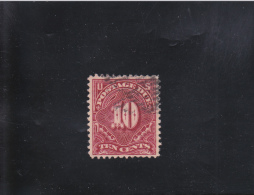 TIMBRES-TAXE CHIFFRES 10C CARMIN VIF OBLITéRé N°26 YVERT ET TELLIER 1894 - United States
