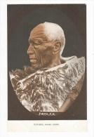 New Zealand (NZ), Maori Chief Patara, Facial Tattoo, Carved Staff Or Spear (Taiaha), Postcard - Nouvelle-Zélande