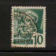 Germany--baden    Scott No. 5N3    Used - Baden