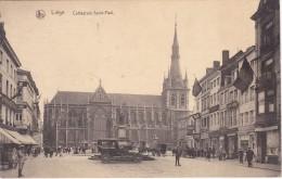 LIEGE - Cathédrale Saint-Paul - Oldtimer - Voyagé 1920 ->> Braine Le Comte - 2 Scans - Liege