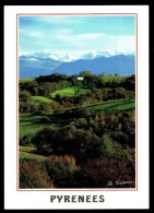 Paysage B�arnais, depuis le vignoble de JURANCON - Voyag� - Circulated - 2004.
