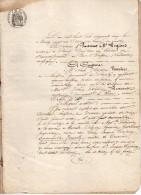VP1220 - Acte Procès Verbal De Défaut Melle LEMONNIER à ROUEN Contre Vve & Enfants CAMPION à VARAVILLE - Manuscrits