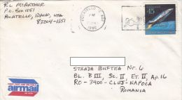 STAMPS ON COVER, NICE FRANKING, SPACE SHUTTLE, 1990, USA - United States