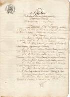 VP1222 - Acte Titre Nouvel Par Les Héritiers CAMPION à VARAVILLE à Mr BRAFIN De GRANGUES - Manuscrits