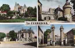 Cpsm LA COURONNE, Charente, Multivues, Logis Des Abbés, Château De L'oiselles, ...   (40.44) - France