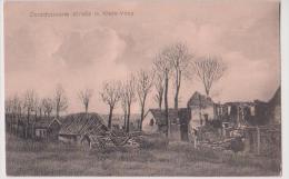 VIMY : ZERSCHOSSENE STRASSE IN KLEIN-VIMY - MAISONS EN RUINES - CPA - 2 SCANS - - Autres Communes