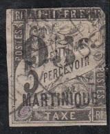 Timbre Taxe Colonie Surchargé   Martinique  N° 19 - Martinique (1886-1947)