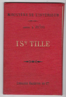 Carte Géographique IS SUR TILLE Cote D Or 100 000e Systeme Becherel Hachette Et Cie - Feuille XXII - 1885 - Carte Geographique
