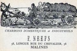 Malines : Attelage + Pub : Charbons F. Neefs (vierge) - België
