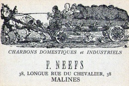 Malines : Attelage + Pub : Charbons F. Neefs (vierge) - Belgique