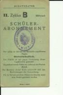 AUSTRIA, WIEN  --  SCHULER - ABONNEMENT FUR BURGTHEATER 1934 / 1935  --  DICKE KARTON  --  THEATER TICKET - Historical Documents