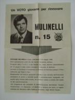 1976 MOLFETTA  GIOVANNI MULINELLI  BUSTA LETTERA VOLANTINO ELEZIONI PARTITO POLITICO  PSI - Manifesti