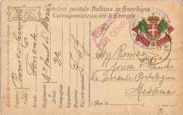 FRANCHIGIA POSTA MILITARE 90 1918 EDOLO X MESSINA - Military Mail (PM)