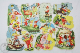 1900´s Old Illustrations - Dwarfs - Germany Victorian Embossed, Die Cut/ Scrap Paper - Cromos Troquelados