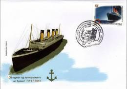 Macedonia / 2012 / FDC / The 100 Years Since Titanic Tragedy (sank) . - Macedonia