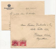JAPAN - VF COVER Sent From HOTEL NEW GRAND, YOKOHAMA  With Pair Of Yvert # 192 Sent 1935 To ARGENTINA -written In DEUTCH - Japan