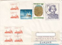 KING COVER STATIONERY, ENTIER POSTAL, WHEAT, CHRISTMAS, TOWN, STAMPS, 1993, POLAND - Briefe U. Dokumente