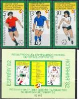 BULGARIA 1982 SPORT Soccer Football WORLD CUP In SPAIN II - Fine Set + Numer. S/S MNH - Bulgaria
