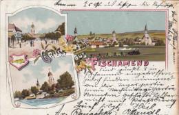 Litho Gruss Aus FISCHAMEND (NÖ) - Gel.1898?, Abgelöste Marke - Fischamend