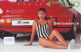 Télécarte Japon EROTIQUE (4753) EROTIC *  *  Japan PHONECARD EROTIK * BIKINI GIRL * FEMME  SEXY LADY - Mode