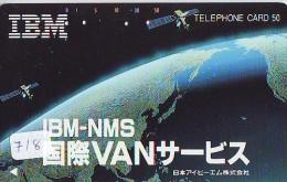 Télécarte Japon SATELLITE (718) ESPACE * TERRESTRE * MAPPEMONDE * TELEFONKARTE * Phonecard JAPAN * - Espace
