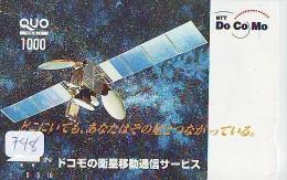 Télécarte Japon SATELLITE (748) ESPACE * TERRESTRE * MAPPEMONDE * TELEFONKARTE * Phonecard JAPAN * - Espace
