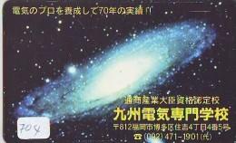 Télécarte Japon ESPACE * Phonecard JAPAN  (704) SPACE SHUTTLE * COSMOS * WELTRAUM * LAUNCHING * SATELLITE * GLOBE - Espacio
